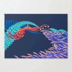 Dancing monster Canvas Print