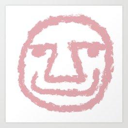 Minimalist Brush Stroke Face 009 Art Print