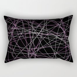 Colored Line Chaos #20 Rectangular Pillow