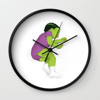 toddler Wall Clocks featuring Toddler Hulk SMASH! by Moats