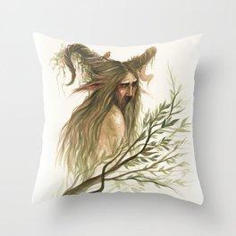 Leshy - woodland spirit Throw Pillow