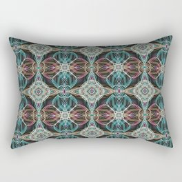 Art Deco 43 .Multicolored abstract pattern . Rectangular Pillow