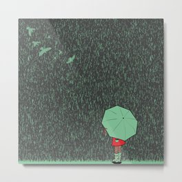 rain falls Metal Print