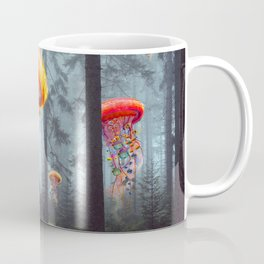 ElectricJellyfish Worlds in a Forest Kaffeebecher