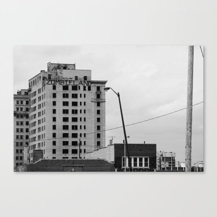 Zombieland Detroit Canvas Print