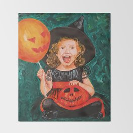 Are you ready for Halloween? Throw Blanket