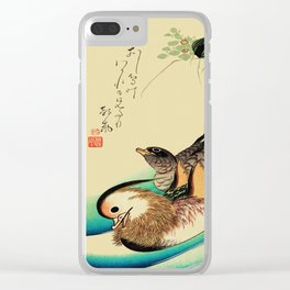 Mandarin Ducks - Vintage Japanese Art Clear iPhone Case