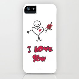 Heartman - I Love You iPhone Case
