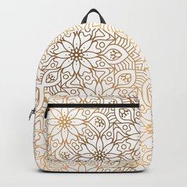gold, Arabic, Art, Leaf, Light ,Metal ,Yellow, flowers, Backpack