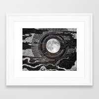 lights Framed Art Prints featuring Moon Glow by brenda erickson