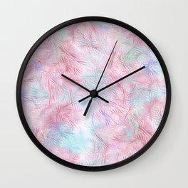 Tangled Pink Fireworks Wall Clock