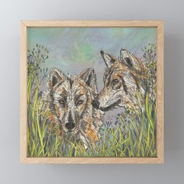 Wolves Framed Mini Art Print