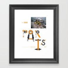 Bike to Life - Paris Framed Art Print