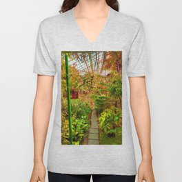 Tropical Green House - Autumn Palette  Unisex V-Neck