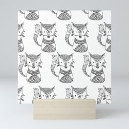 Foxes Mini Art Print