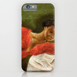 African American Masterpiece 'The Night Letter' by Eldzier Cortor iPhone Case