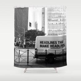 New York Post Truck, Manhattan Shower Curtain