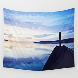 Dock at Dusk, Sequim Bay State Park Wall Tapestry
