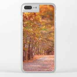 Autumn Walk Clear iPhone Case