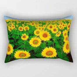 Sunflower art decoration ideas best design Rectangular Pillow