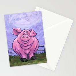 Animal Parade Pig Stationery Cards