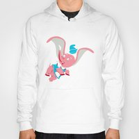 dumbo Hoodies featuring Dumbo Double Dare by Kyle Anderson
