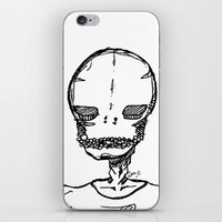 boyfriend iPhone & iPod Skins featuring skeleton boyfriend by weekwah