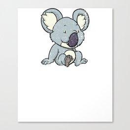 Funny Koala Bear Gift T-Shirt Koalas Bears Tee Shirt Canvas Print
