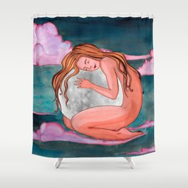 Moon Remember Shower Curtain