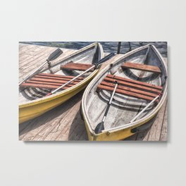 Small boat Metal Print