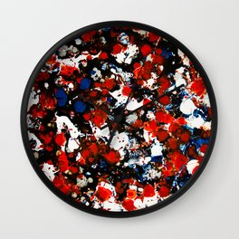 Berlin Stories: Untiled Red & Blue Painting Wall Clock