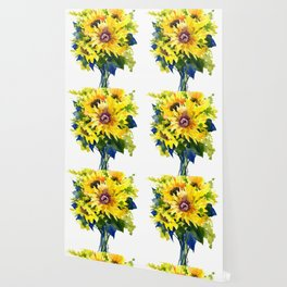 Colors of Summer, Sunflowers, Country style french country design Wallpaper