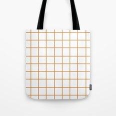 Grid (Bronze/White) Tote Bag