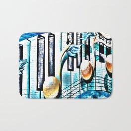 Deep Ellum Music Note Mural - Surreal Bath Mat