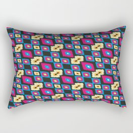 ikkat design pattern Rectangular Pillow