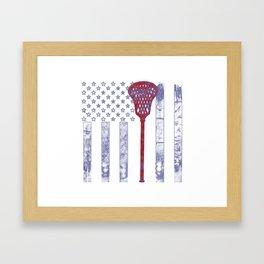 Lacrosse Flag Framed Art Print