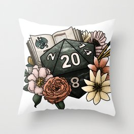 Dungeon Master D20 Tabletop RPG Gaming Dice Throw Pillow