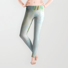 Dreaming of Golden Coast -  Abstract Fluid Painting Leggings