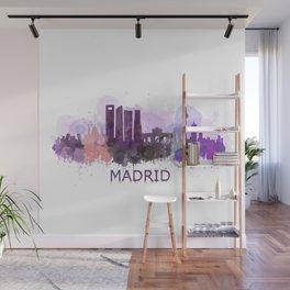 Madrid City Skyline HQ Wall Mural
