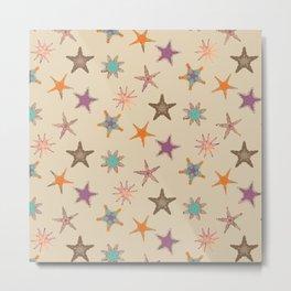 Fish tales: Starfish pattern 1a Metal Print