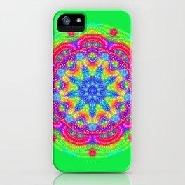 Amazing Day Neon Mandala iPhone Case