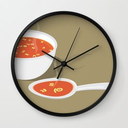 so[jo]pa de letras Wall Clock