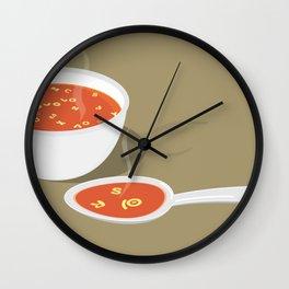 so[jo]pa de letras Wall Clock