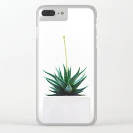 Minimal Greenery Clear iPhone Case