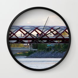 Peace Bridge Calgary Wall Clock