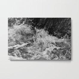 Splashing Water 3 Metal Print