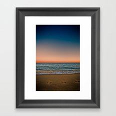 Barceloneta night Framed Art Print