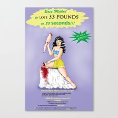 PIN-UP DIET LEG Canvas Print
