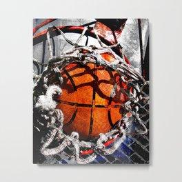 Basketball art swoosh vs 35 Metal Print