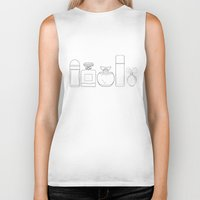 perfume Biker Tanks featuring Perfume by Illustrated by Jenny